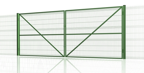 Распашные ворота из 3D решётки